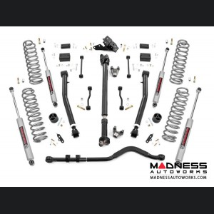 "Jeep Wrangler JL Rubicon Suspension Lift Kit w/ Coils & Adj. Control Arms - 3.5"" Lift - Stage 2"